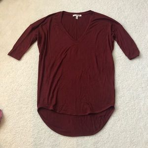 Burgundy Express London Tee